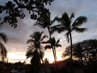 Spectacular sunsets viewed from your lanai/patio deck