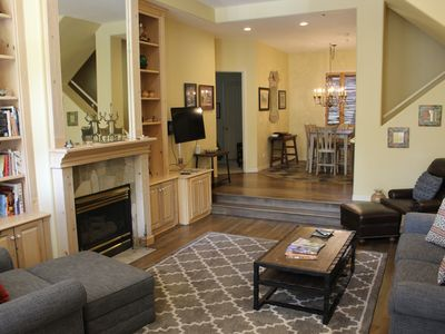 Photo for STEPS f/ TOWN PARK! 3BR/3.5Bth Parkside rooftop hottub, fireplace, parking VIEWS