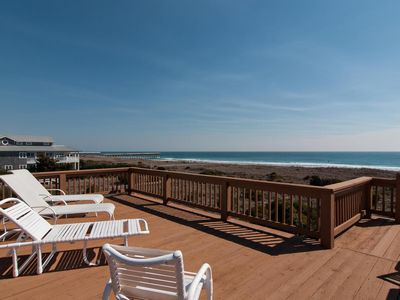 Photo for North end oceanfront duplex with upper deck for tanning and relaxing