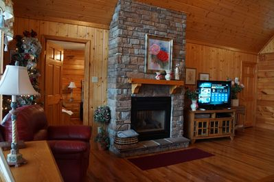 Great Room with fireplace/large flat screen TV