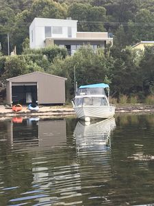 House , boatshed , kayaks