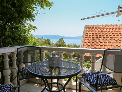 Photo for Two bedroom apartment with terrace and sea view Podaca (Makarska)