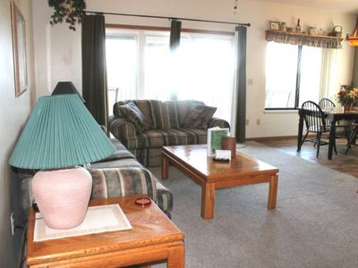 Photo for Beautiful Lake View!! 2 bed 2 bath Condo- Large Deck- Close to SDC! Pool and Jacuzzi!