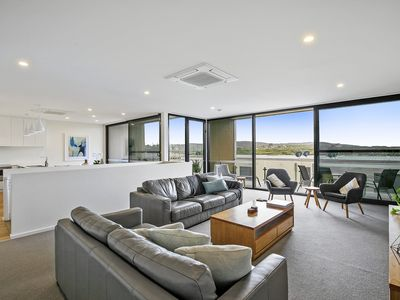 Photo for Across from stunning Main Beach Anglesea- luxury new townhouse, steps to cafes