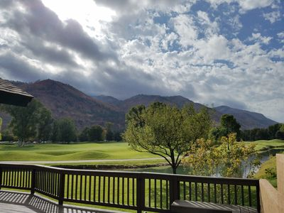 Photo for Breathtaking mountain and golf course views