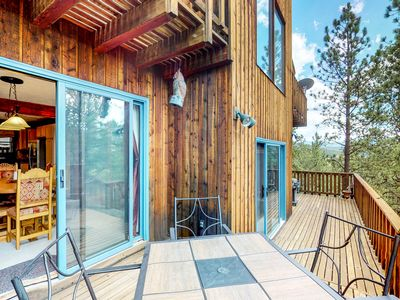 Photo for NEW LISTING! Angel Fire home with stunning views, decks, & fireplace!