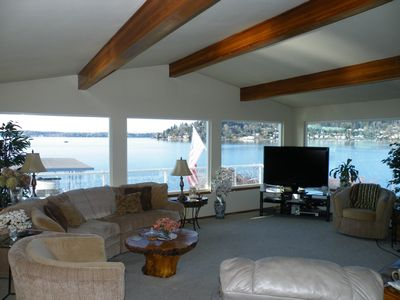 Photo for Seattle Lake Washington Waterfront Home Located Directly on the Lake