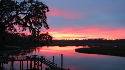 Photo for Darien, GA  Large 3/2 pet friendly home on deepwater dock, kayaks, canoe & bikes