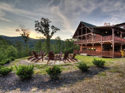Photo for CHECKS ALL THE BOXES  Luxury Cabin, Great Location, Amazing View, Firepit
