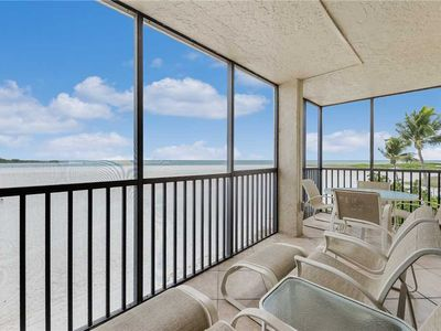 Photo for Carlos Pointe 236, 2 Bedrooms, Gulf Front, Sleeps 6, Elevator, Heated Pool