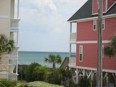 Incredible ocean views from either covered deck await you at Abe's Corner!
