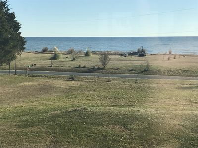 Chesapeake Bay View from the house.  Guest have access to private beach