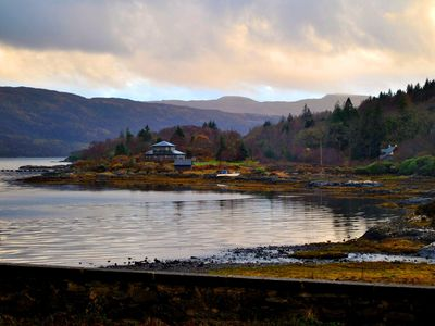 Photo for Old stone cottage overlooking Salen bay