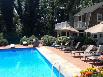 Pool and cottage; we've removed the diving board for safety