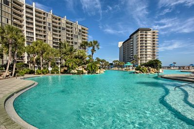 Cool off by the resort pool during your stay in Panama City Beach!