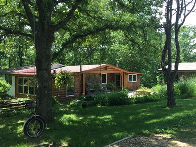 Photo for Koi Cottage with mineral hot tub. Located minutes from the Upper Meramec River