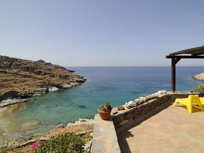 Photo for Kea Cyclades, beachfront, tranquil, secluded, luxurious apt on private beach
