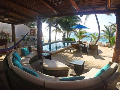 Photo for 4BR Beach Front Home w/Private Pool Getaway