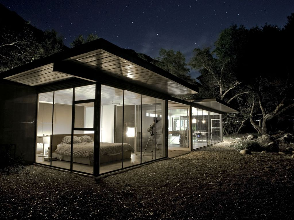glass home with river night sky privacy vrbo. Black Bedroom Furniture Sets. Home Design Ideas