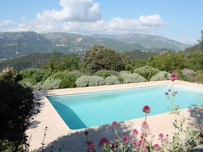 Photo for House with sea view and magnificent mountain pool salt, quiet beauty and insured