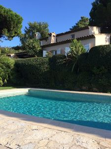 Photo for Private Luxury Villa With Heated Pool in Super Cannes, Air con,views of the Alps