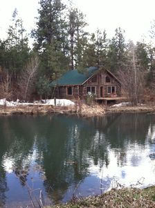 Cabin and private fishing pond