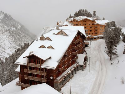 Photo for Luxurious apartment in Les Arcs with shared heated swimming pool and sauna