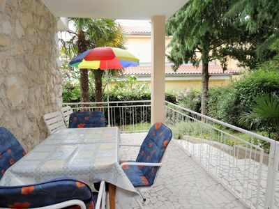 Photo for One bedroom apartment with terrace Dramalj, Crikvenica (A-2397-a)