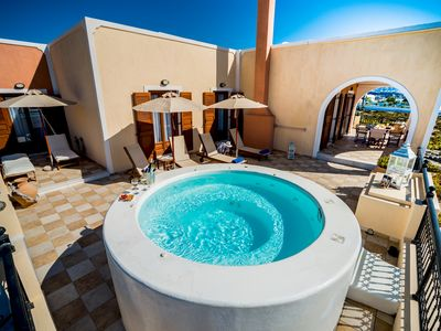 Photo for Luxurious Villa in Greece - Vineyard, Jacuzzi on Terrace, Sea Views