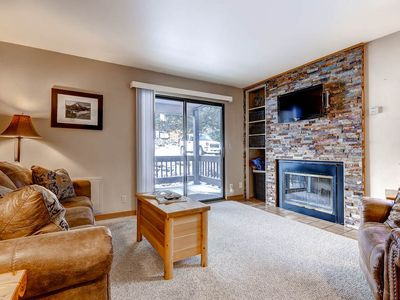 Photo for BOOK EARLY FOR NEXT WINTER.  Short walk to the Cabriolet to lift you to Canyon Village.  This beautifully updated Red Pine, Unit S2 is a perfect mountain getaway.  Gas fireplace, free Wi-Fi.  FREE PARKING.  Community pool, hot tubs and laundry.  Park in front of the condo for easy access.   Great Value!