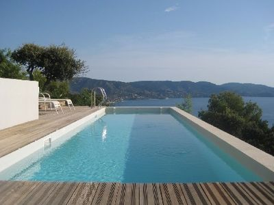 Photo for Provence, Gaou Benat, villa, swimming pool, exceptional panoramic sea view