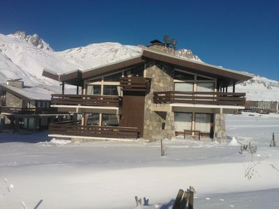 Photo for beautiful apartment in a chalet on the edge of the Tignes lake near lifts