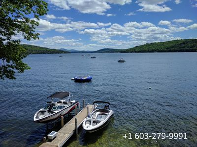 Photo for Beautiful Lake Winnipesaukee Waterfront on Meredith Bay