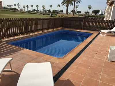 Photo for Luxury detached villa, south facing and front line golf, with private pool