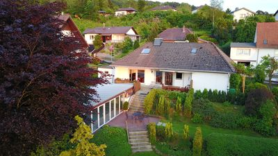Photo for Cottage on Lake Diemelsee near Willingen with pool and sauna