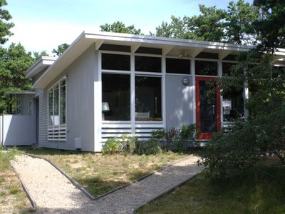 Photo for Light and airy,  mid-century Truro cottage, private, secluded, near ocean/bay