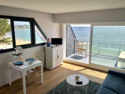 Photo for T2 holiday apartment with breathtaking views of the beach