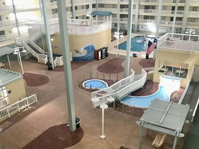 Photo for HHR 3209/ Indoor pool,Hot Tub, Fitness Room,Tennis ,outdoor pools,walk to beach.