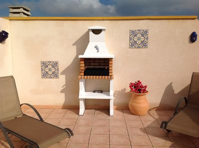 BBQ on roof terrace