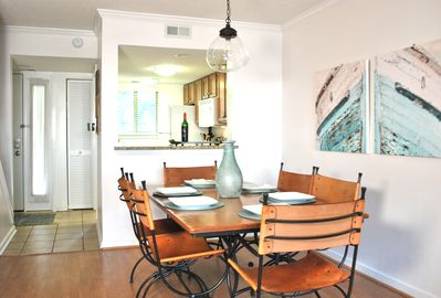The dining room sits six comfortably