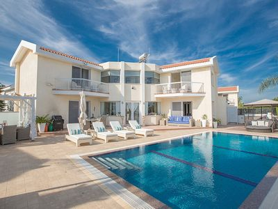 Photo for Villa Marisa, Stylish 3BDR Protaras Villa with Pool and Stunning Sea Views