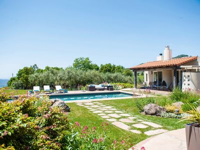 Photo for Lush Estate Amid Acres of Vineyards—Designer Décor, Gardens, Pool, Cabana