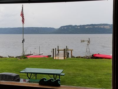 Photo for Lake front property equipped with boat dock, 2-kayaks and 1-paddle boat to use.