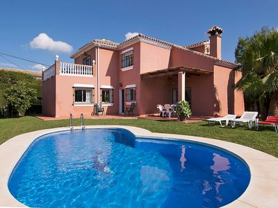 Photo for This 4-bedroom villa for up to 8 guests is located in Fuengirola and has a private swimming pool....