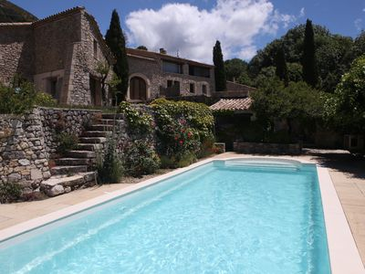 Photo for Traditional house completely renovated overlooking the Ventoux and pool