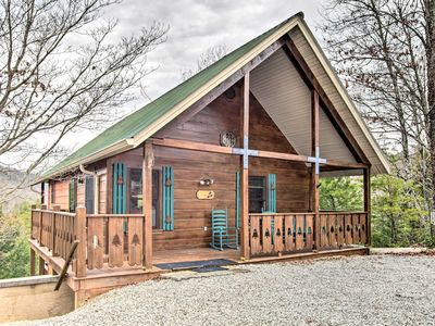 Photo for Quaint Sevierville Cabin w/ 2-Tier Deck & Hot Tub!