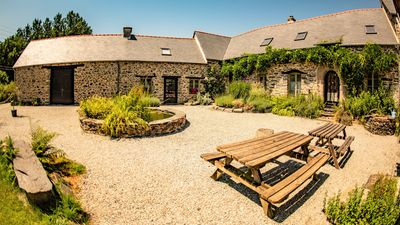 Photo for Charming 17th Century Cottage near Lac du Guerledan. Heated Pool, Large grounds