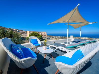 Photo for R263 Luxury Santorinian Suite with Hot Tub with Sea View Incl Breakfast