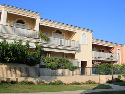 Photo for Apartment les Pins Bleus A8 Sainte Maxime near the sea with swimming pool and terrace