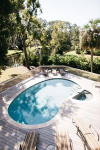 Upstairs View Of Pool and Lagoon